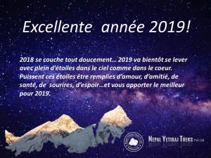Voeux Nepal Yetiraj Treks Excellente année 2019